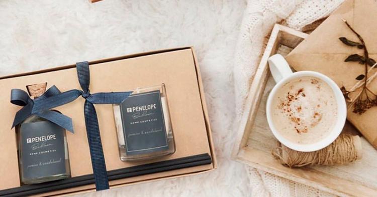 Диффузор + аромасвеча Penelope, жасмин и сандал - 50 мл