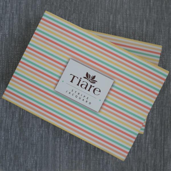 """Комплект постільної білизни """"Stripe"""", подвійний, какао"""