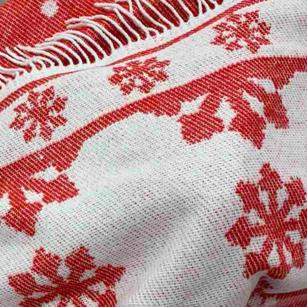 Плед Територія сну Valencia червоно-білий 140х200