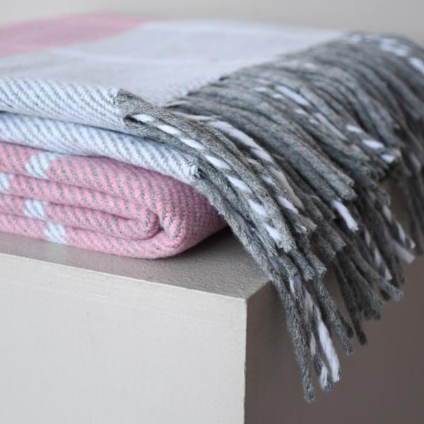 Плед Територія сну Valencia біло-рожевий 140х200