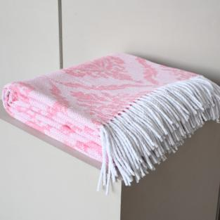 Плед Територія сну Valencia Royal біло-рожевий 140х200